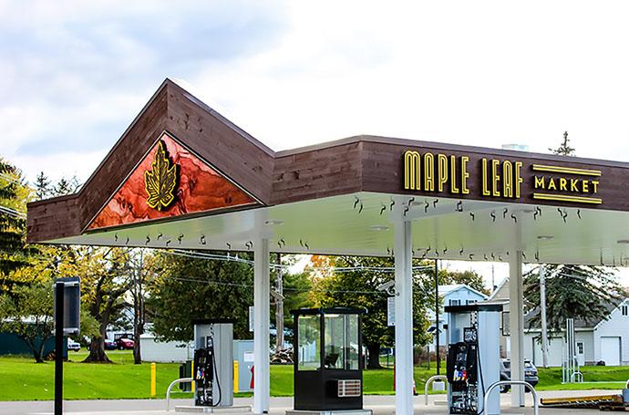 Maple Leaf Market Gas Pumps