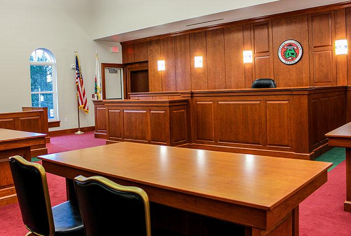 Oneida Indian Nation Justice Center Courtroom