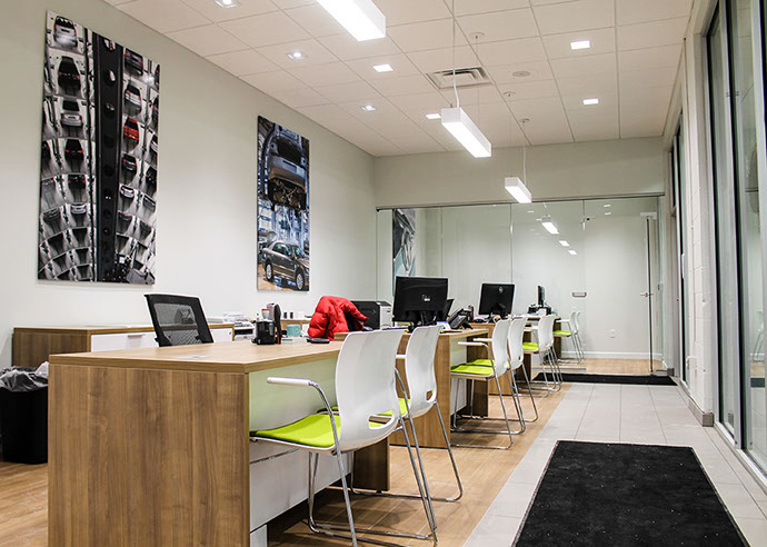 NYE Volkswagen Dealership Interior Offices