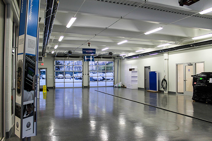 NYE Volkswagen Dealership Service Area