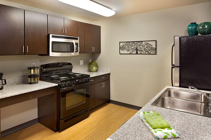 Syracuse University Campus West Housing Kitchen