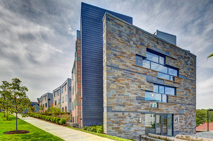 Collegetown Terrace Phase II Exterior Stone Wall