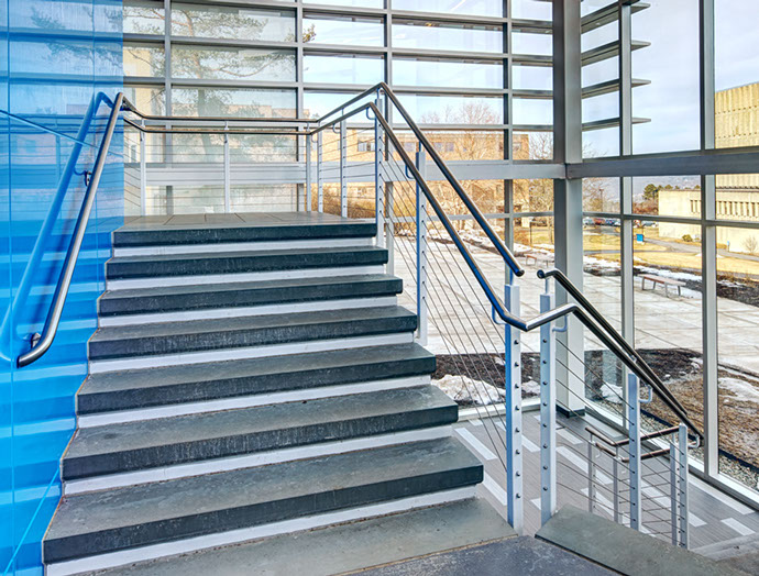 Ithaca College Hill Center Staircase