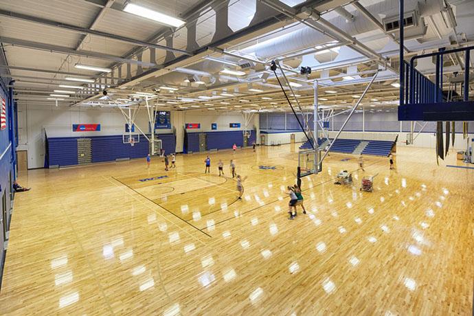 Ithaca College Hill Center Basketball Court
