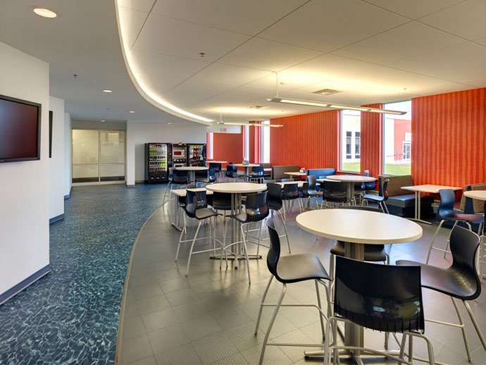 Pall Corporation Seating Area with Tables