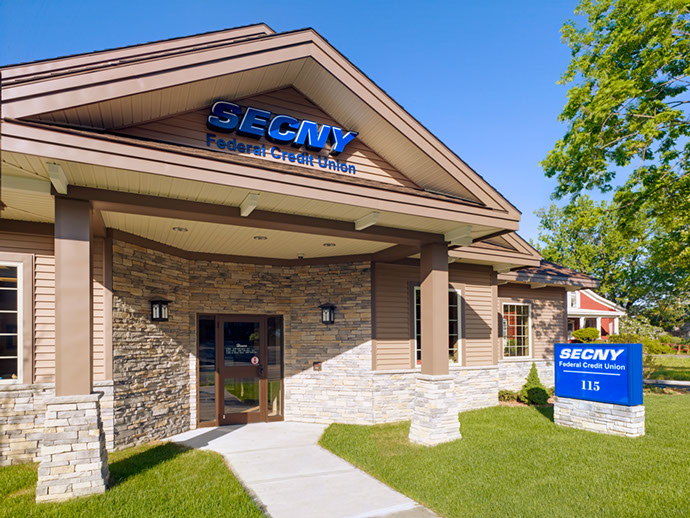 SECNY Federal Credit Union Exterior Entrance