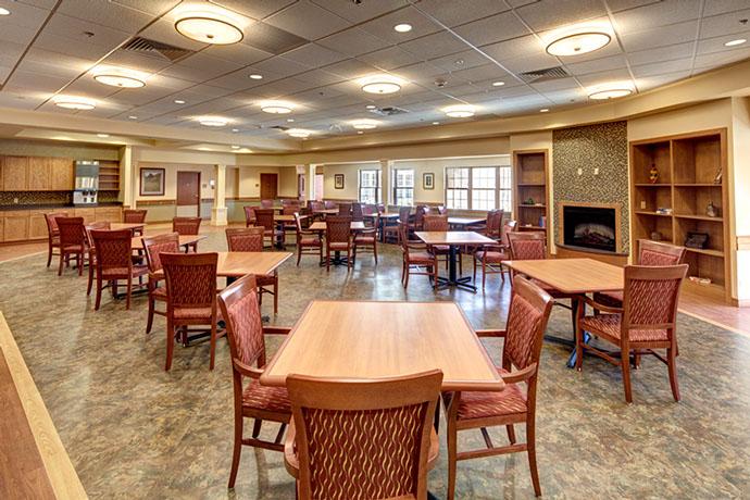 St. Luke Health Services Dining Area