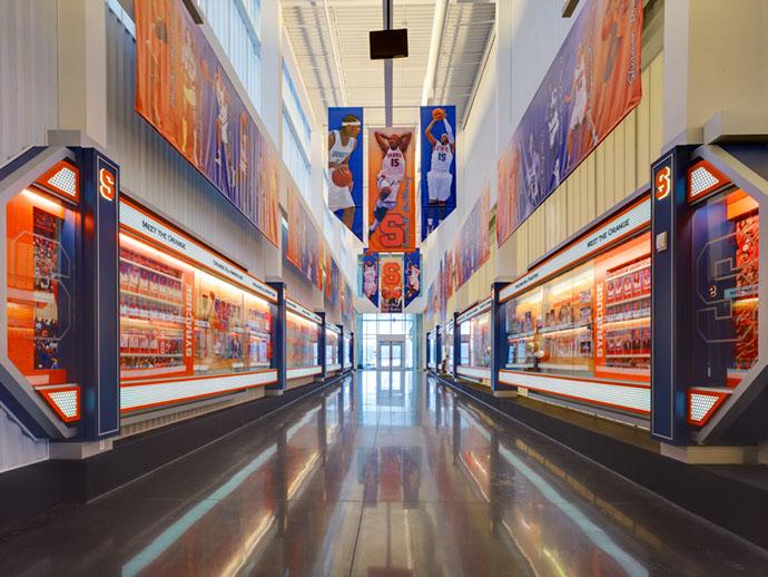 Syracuse University Carmelo K. Anthony Center Hallway