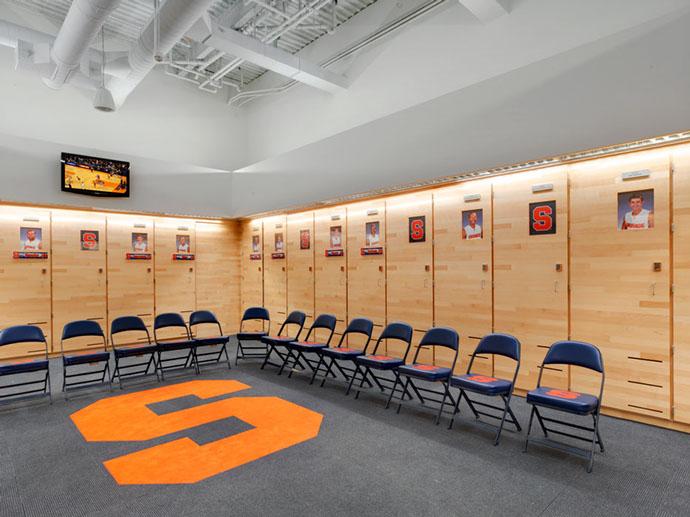 Syracuse University Carmelo K. Anthony Center Locker Room