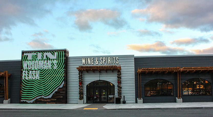 Tin Woodman's Flash Wine and Spirits Exterior Storefront
