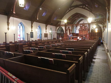 St. James' Episcopal Church prepares for worship again following extensive renovation project