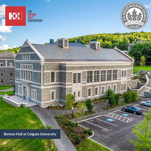 Benton hall receives LEED Platinum Certification