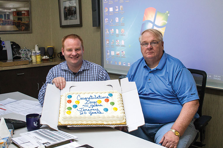 Thurstons celebrate milestone work anniversaries