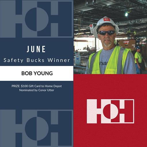 June Safety Bucks Winner