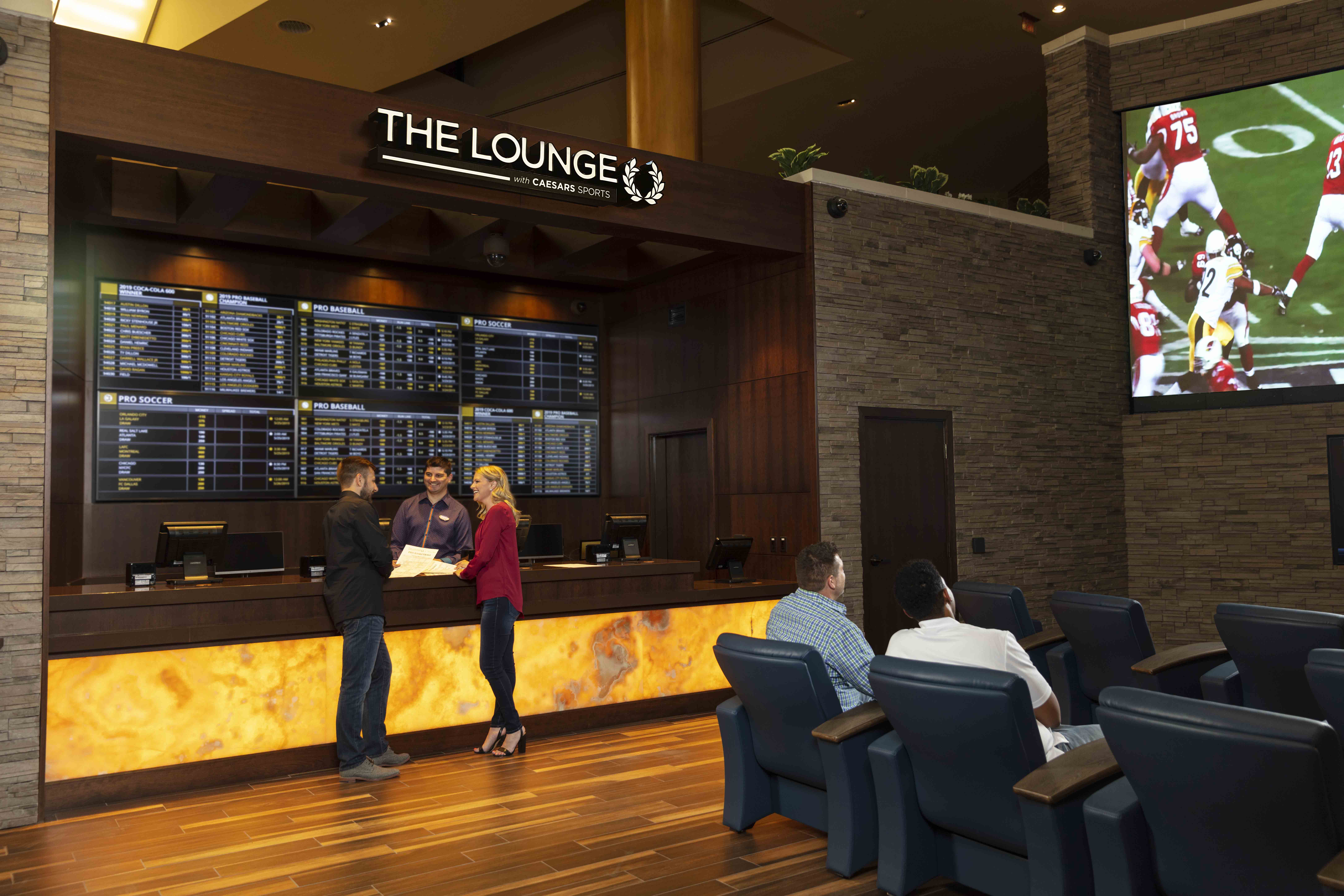 The Lounge with Caesars Sports | Hayner Hoyt Construction