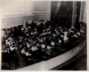 MWSO rehearsing at Carnegie Hall