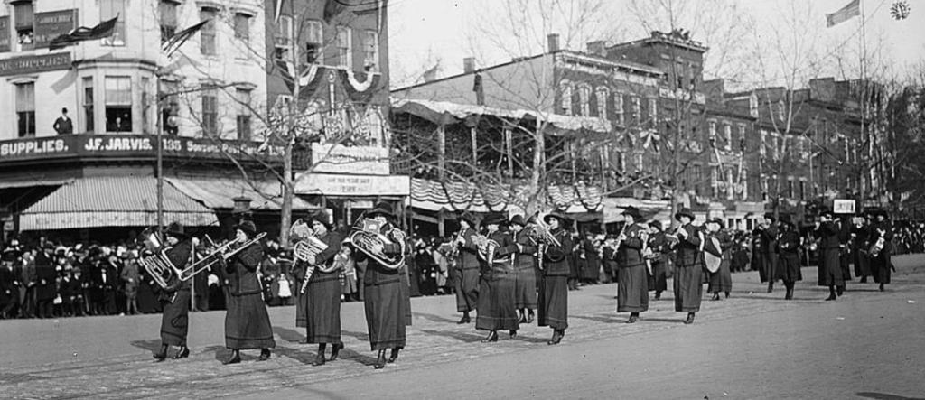 Women's suffrage marching band
