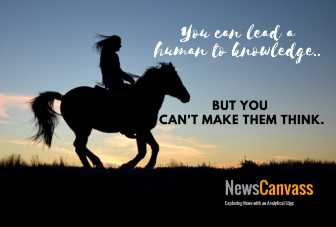 You can lead a human to knowledge but..