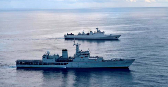 India's and Germany's Maritime exercise in the Gulf of Aden