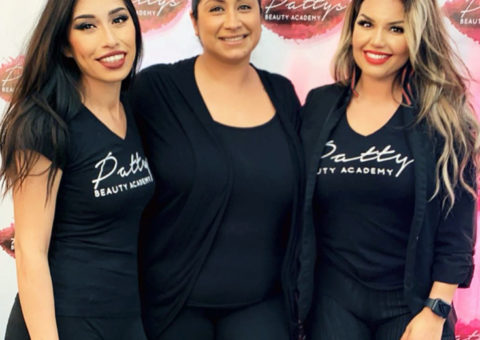 Instructor with Students - Patty's Beauty Academy
