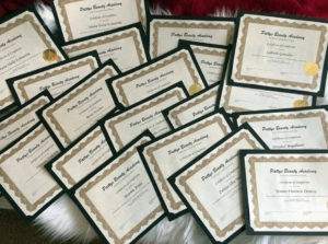 Patty's Beauty Academy - Certificate of Completions