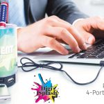pen cup with 4 port USB hub
