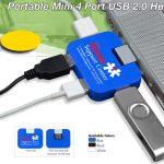 portable mini 4 port USB hub
