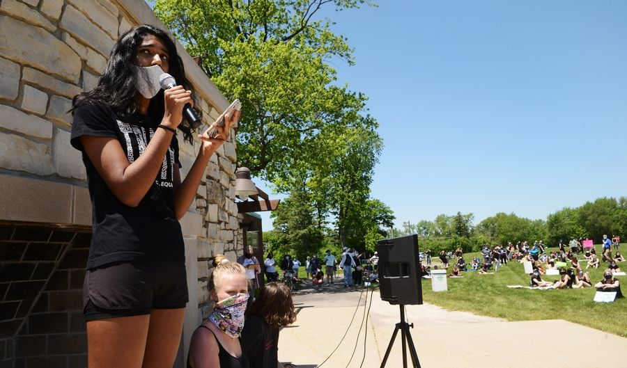 Hundreds gather in Barrington 'to educate people' on black lives