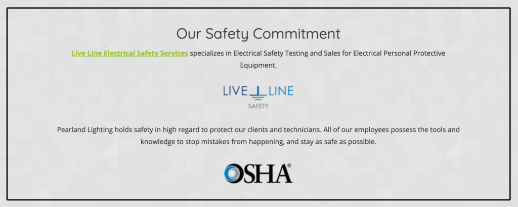 Professional Electricians Safety Commitment