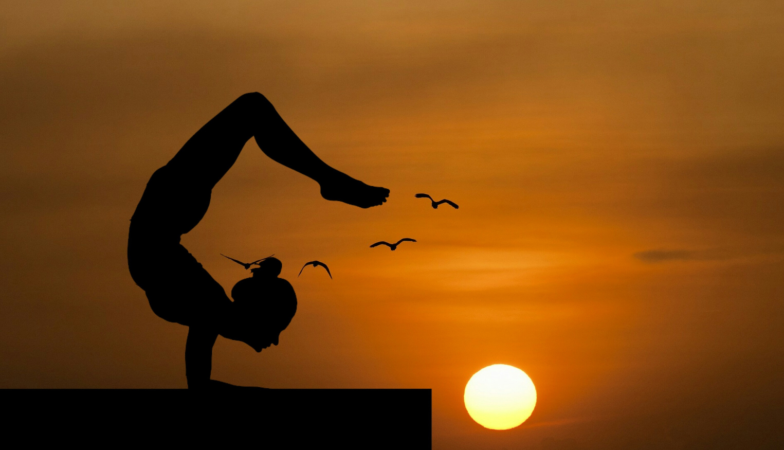 Canva - Silhouette of a Woman Doing a Yoga Pose