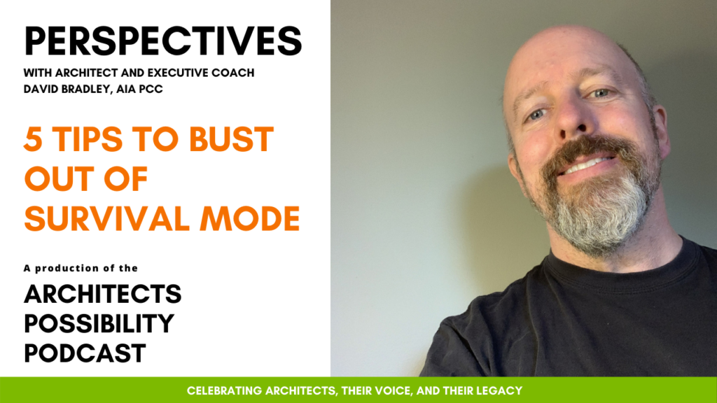 David Bradley, AIA PCC shares coaching perspectives from the Architects Possibility Podcast