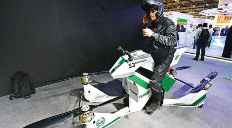 UAE  tests flying motorcycles