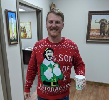 Drew and his ugly christmas sweater - nelson & company llc