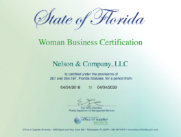 Women Business Certification - nelson & company llc