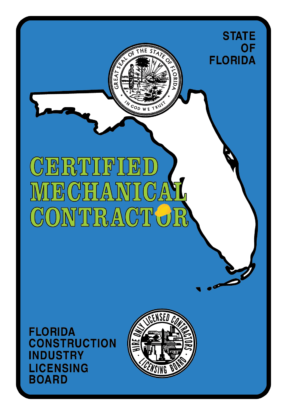 State of Florida Certified Mechanical Contractor logo - Nelson & Company LLC