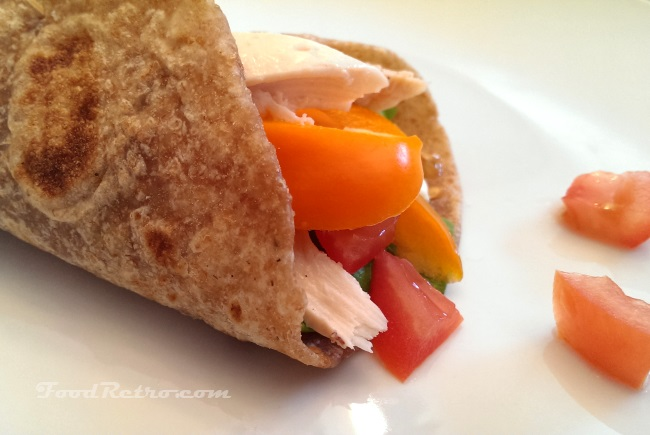 Easy flatbread - whole wheat flour tortilla from scratch