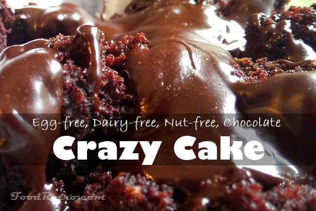 egg free dairy free nut free chocolate crazy cake