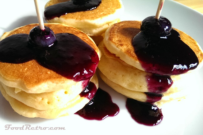 Mini Pancakes Skewer Brunch Appetizer