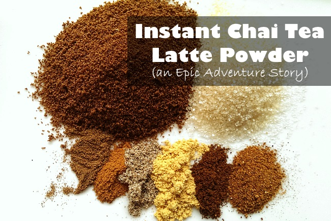 Homemade Instant Chai Tea Latte Powder
