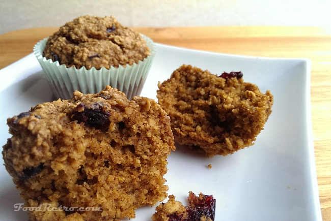 Roasted Pumpkin Oat Muffins