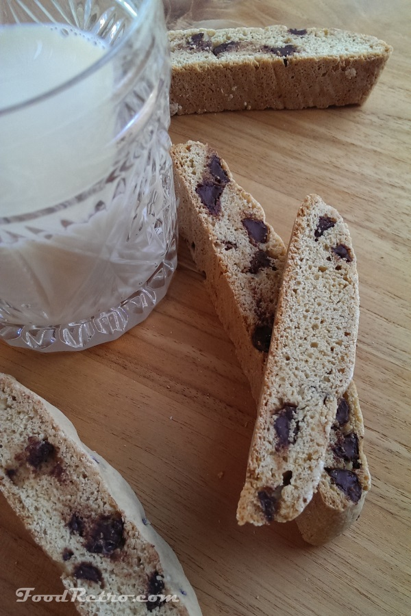 Biscotti Cookies with Chocolate Chips - Bake them less for little teeth!