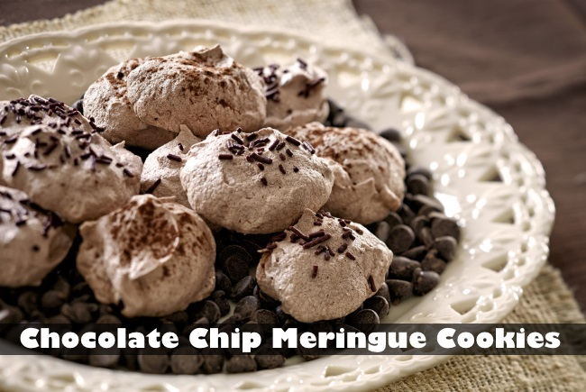 Chocolate Chip Meringue Cookies by EFO
