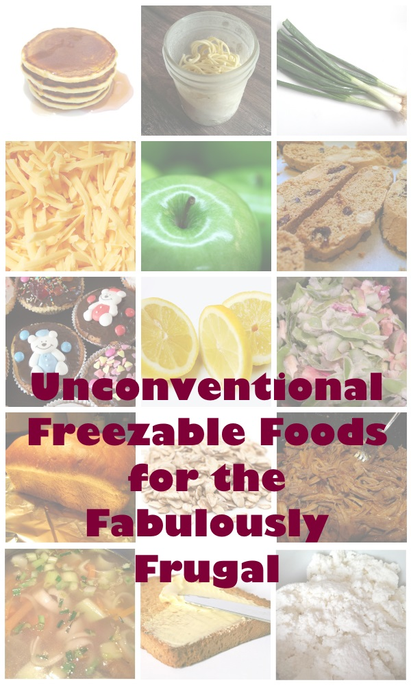 Unconventional Freezable Foods for the Fabulously Frugal