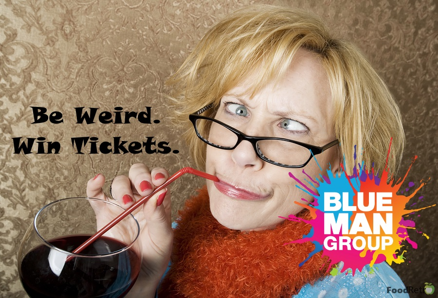 Be Weird and Win 4 Tickets to see Blue Man Group on their North American tour!