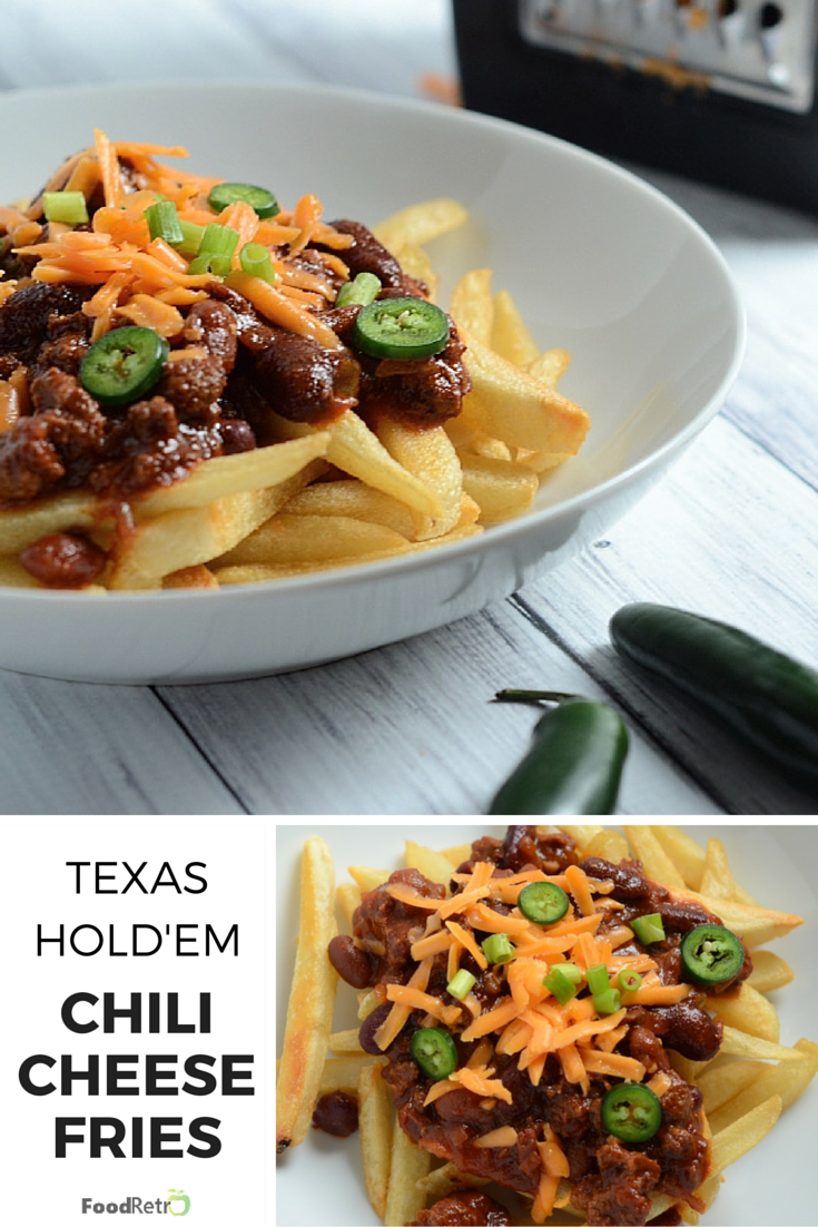 Texas Hold'em Chili Cheese Fries - perfect for football game watching and hockey season! | FoodRetro.com #Modifry #Superfries
