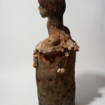 """Ancestral Bust, Mother of the Stolen, 60"""" x 20"""" x 12"""", Earthenware and glaze, dimension, 2017"""