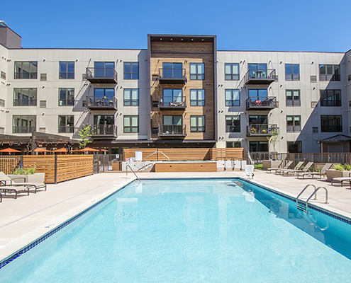 Confluence on 3rd Apts pool