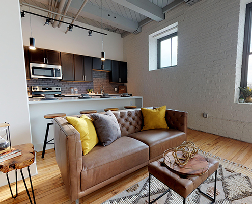 Maxwell model living room