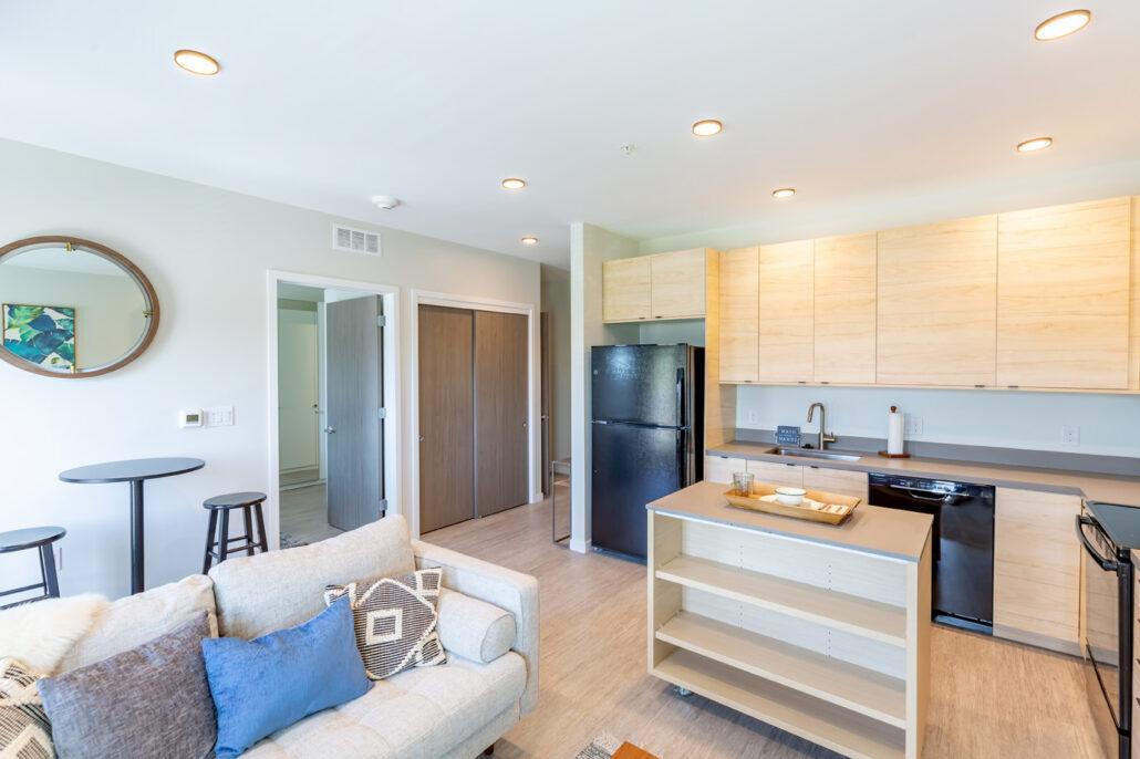 Model apartment kitchen