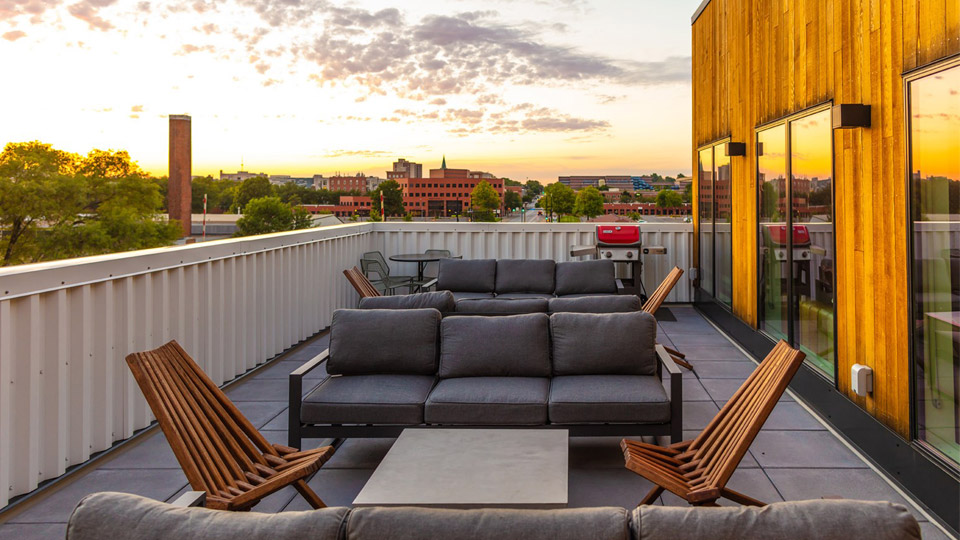 Rooftop Patio at Apartment